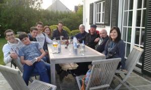 Visita de las familias a Bélgica