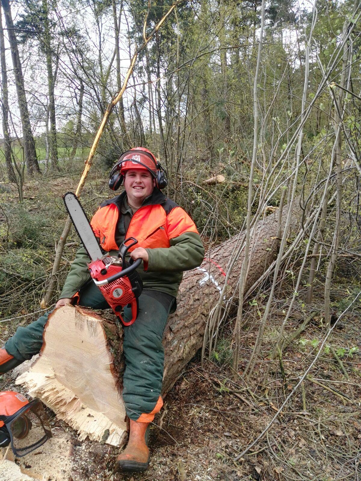 José Vilaplana de Trabajos Forestales, en Alemania