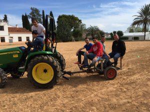 Prácticas con el tractor