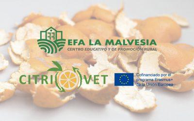 La EFA La Malvesía investiga la transformación de los residuos cítricos