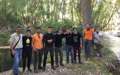 La Malvesía complementa su formación con clases prácticas en los bosques de Teruel