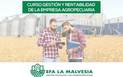 La EFA La Malvesía imparte un curso sobre gestión y rentabilidad de la empresa agropecuaria