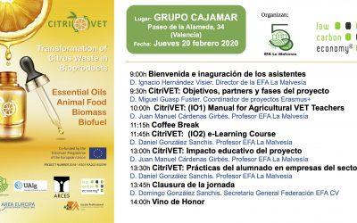 La EFA La Malvesía celebra el Multiplier Event del proyecto CitriVET
