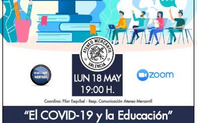 Domingo González participará en un Webinar sobre el Covid-19 y la educación
