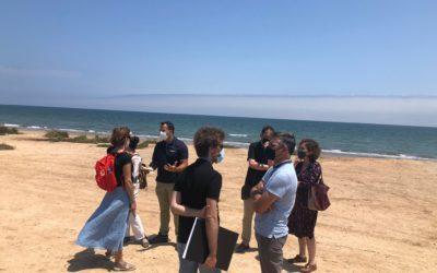 Los componentes del programa Erasmus K3 visitan el proyecto de reecolización del parque agrícola «dels peixets» en Alboraya